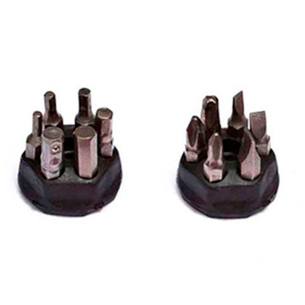 Kit Jogo de Soquetes Estriados ROBUST D26 22AM 1/2 Pol. 8 a 32 mm 22 Peças + Chave de Fenda Multi com Catraca de Reversão - Imagem zoom