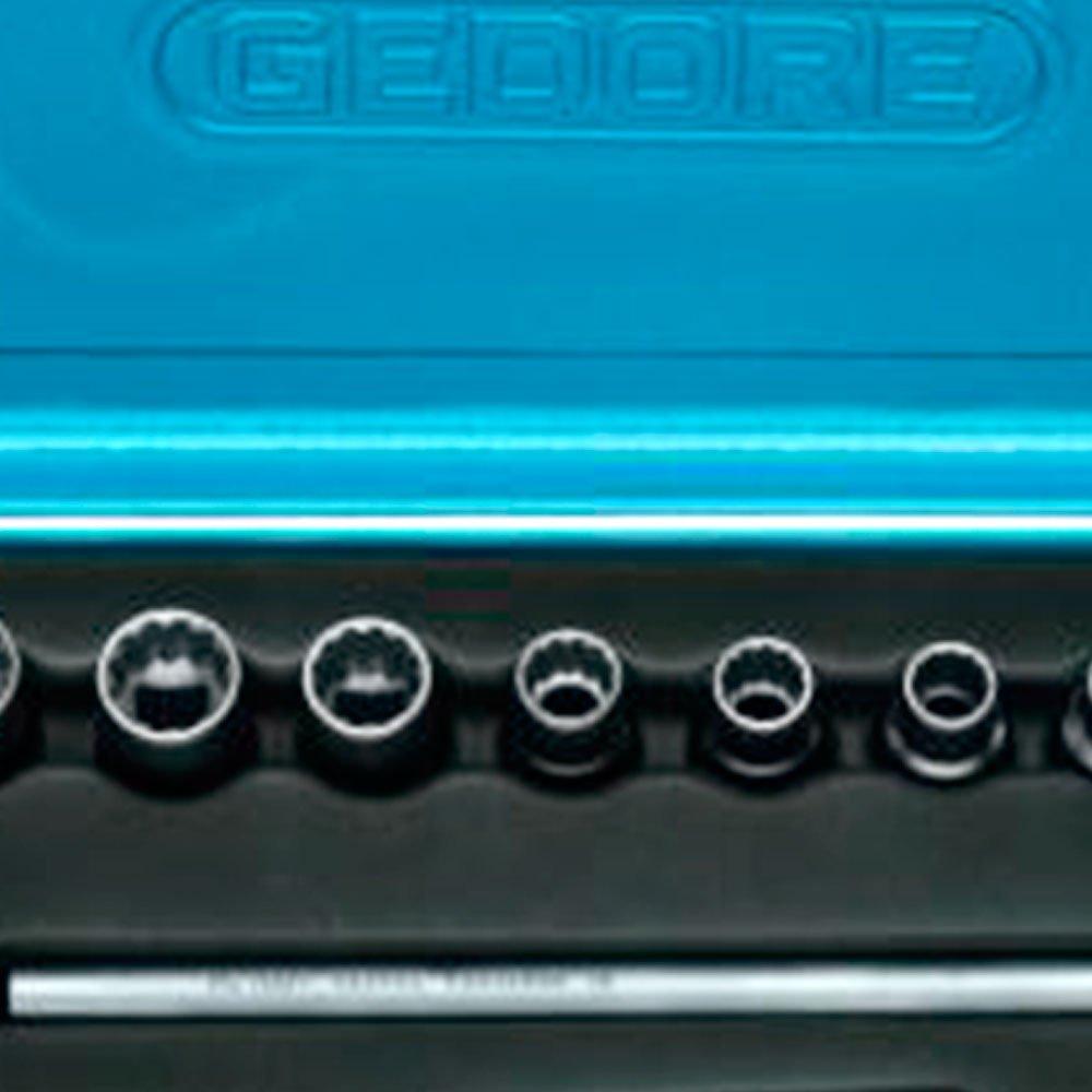 Jogo de Soquetes Estriado e Acessórios com 12 Peças 10 ao 22 mm de 1/2 Pol. D19LMZ  - Imagem zoom