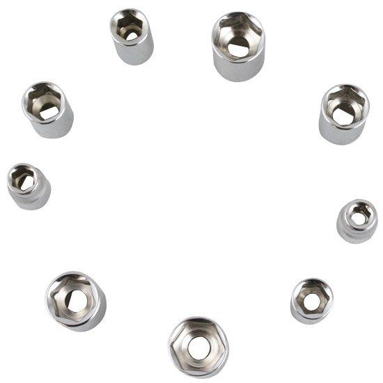 Jogo de Soquetes com Encaixe de 1/4 Pol. com 12 Peças - Imagem zoom