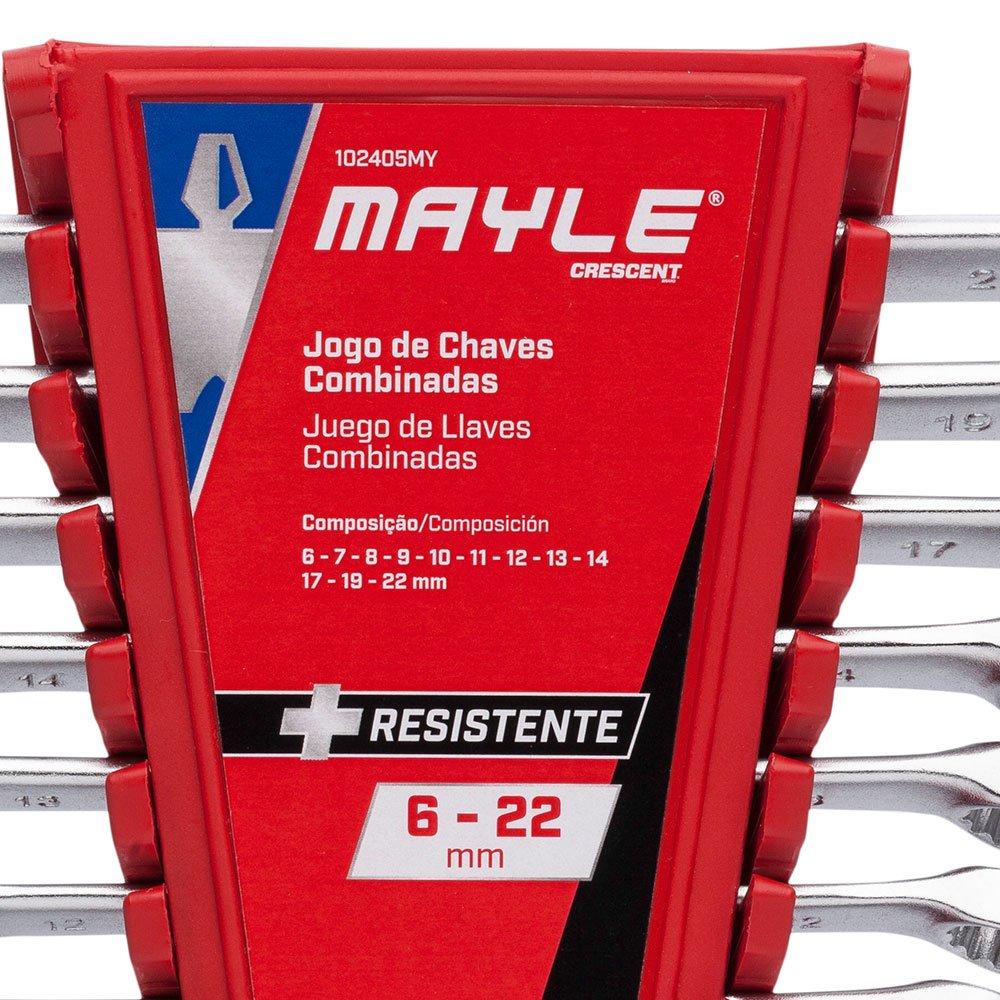 Jogo de Chaves Combinadas 6 a 22 mm com 12 Peças - Imagem zoom