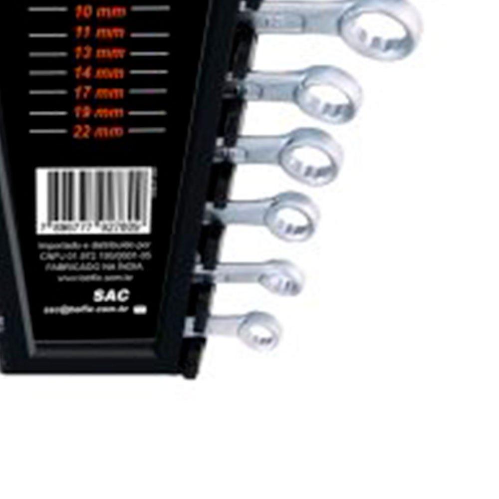 Jogo de Chaves Combinadas 6 a 22mm com 10 Peças - Imagem zoom