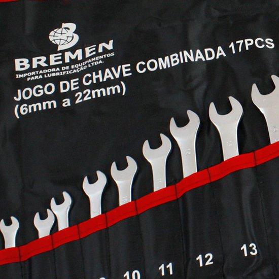 Jogo de Chave Combinada de 6 à 22 mm com 17 Peças - Imagem zoom