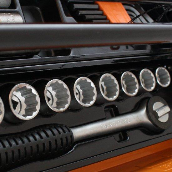 Caixa Sanfonada Cargobox com Rodas, Puxador e 60 Ferramentas - Imagem zoom