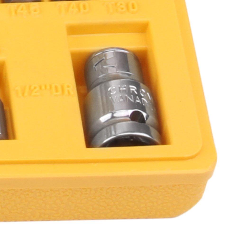 Jogo de Bits Tork e Adaptador 1/2 Pol. com 15 Peças  - Imagem zoom