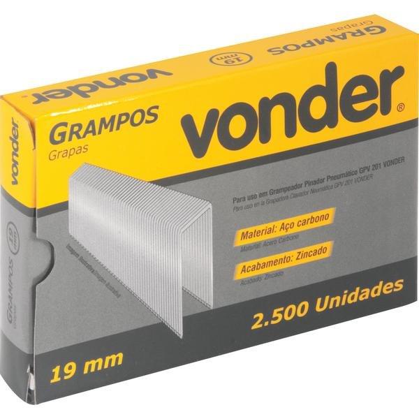Grampo 19 mm  para Grampeador Gpv 201 Caixa com 2.500 Peças - Imagem zoom