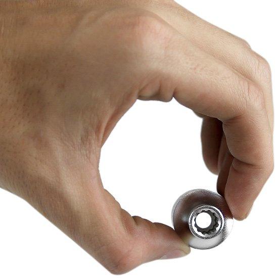 Soquete Estriado de 8 mm com Encaixe 1/2 Pol. - Imagem zoom
