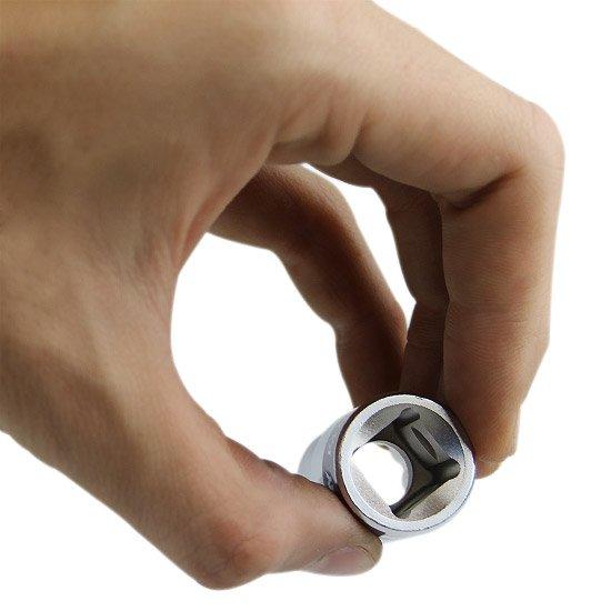 Soquete Estriado de 15 mm com Encaixe de 1/2 Pol. - Imagem zoom