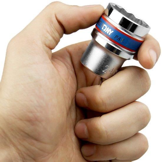 Soquete Estriado de 24 mm com Encaixe 1/2 Pol. - Imagem zoom