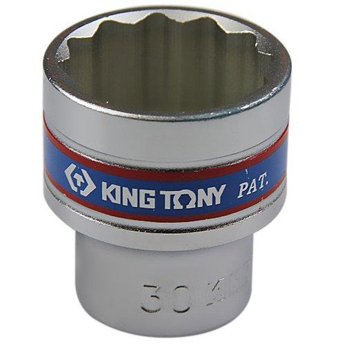 soquete estriado curto 30 mm com encaixe 1/2 pol.