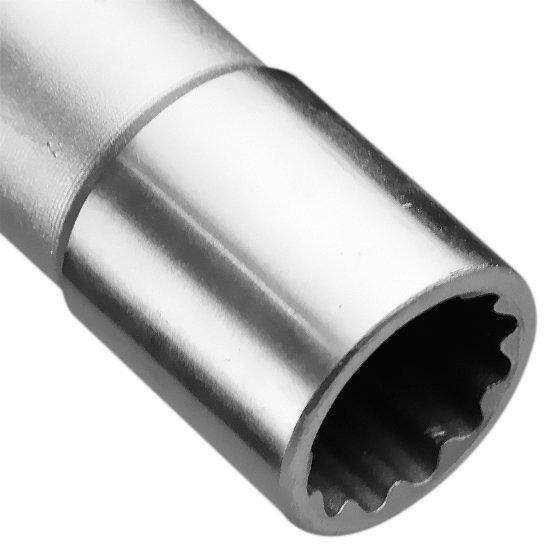 Soquete Estriado Longo com Encaixe de 1/2 Pol. - 17 mm - Imagem zoom