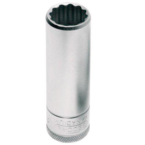 soquete estriado longo 21mm com encaixe de 1/2 pol.