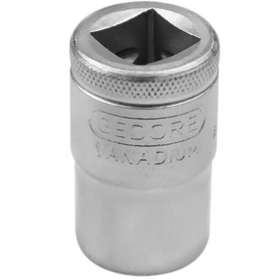 Soquete Estriado Curto de 16 mm com Encaixe de 1/2 Pol - Imagem zoom