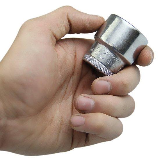 Soquete Estriado Curto 28 mm com Encaixe de 1/2 Pol.  - Imagem zoom