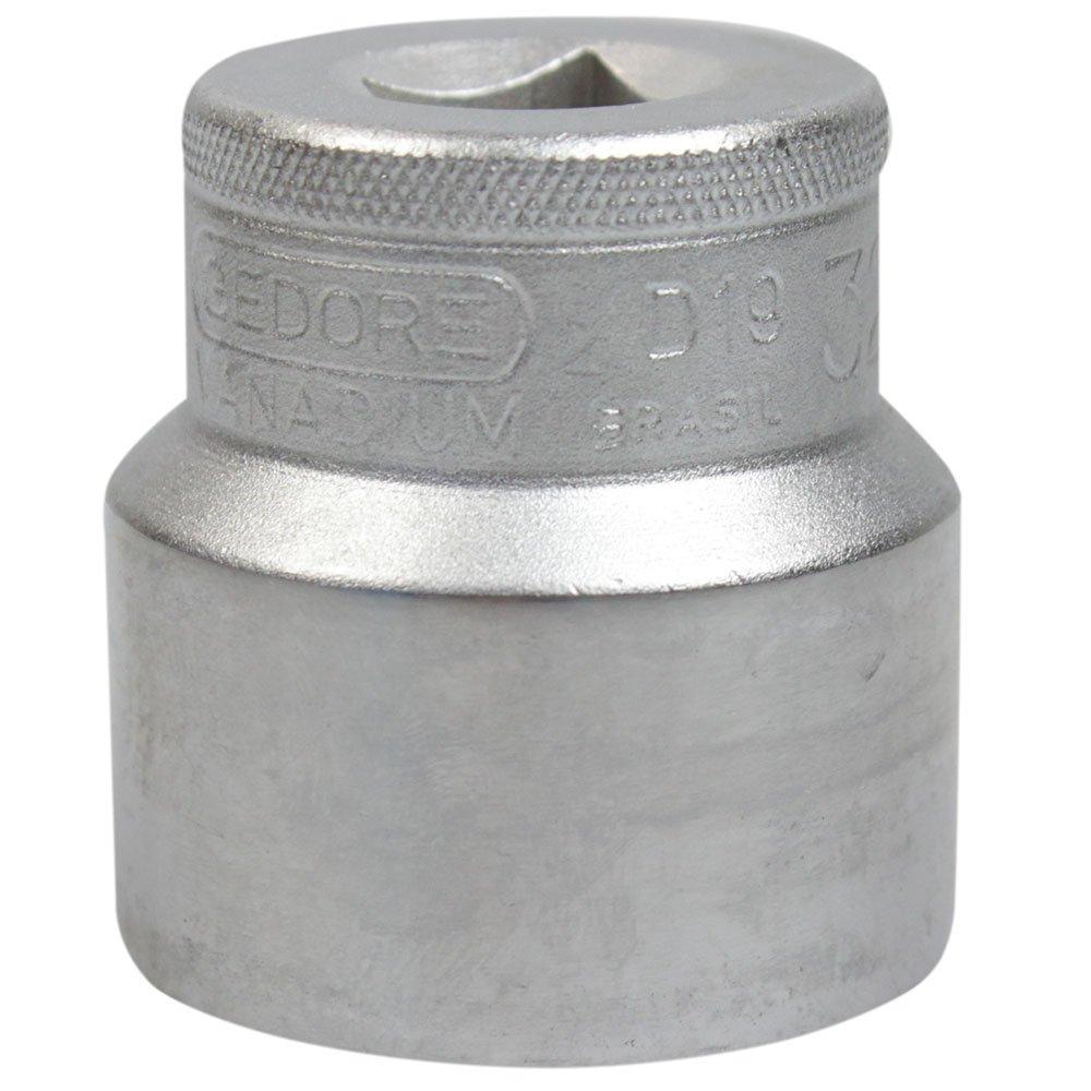 Soquete Estriado Curto 32mm  com Encaixe de 1/2 Pol. - Imagem zoom