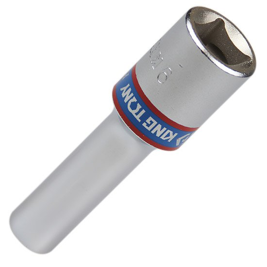 Soquete Estriado Longo 9 mm com Encaixe de 1/2 Pol.  - Imagem zoom