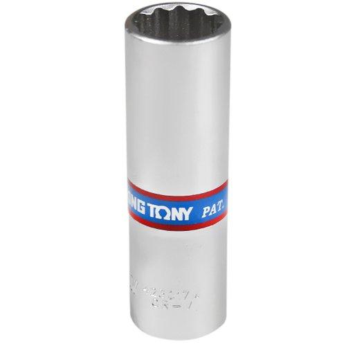 soquete estriado longo 17 mm com encaixe de 1/2 pol.