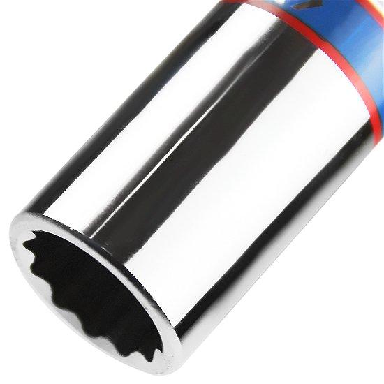 Soquete Estriado Longo 18 mm com Encaixe de 1/2 Pol.  - Imagem zoom