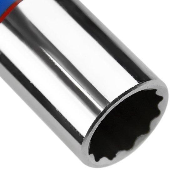 Soquete Estriado Longo de 20 mm com Encaixe de 1/2 Pol. - Imagem zoom