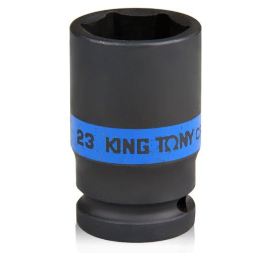 soquete sextavado de impacto longo de 23 mm com encaixe de 1/2 pol.