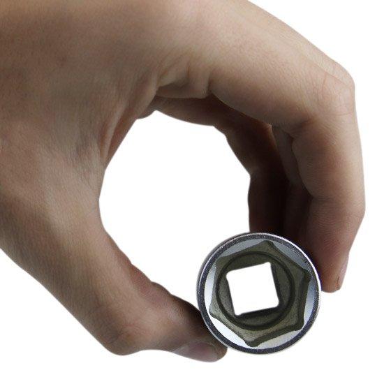 Soquete Sextavado Curto 24 mm com Encaixe de 1/2 Pol.  - Imagem zoom