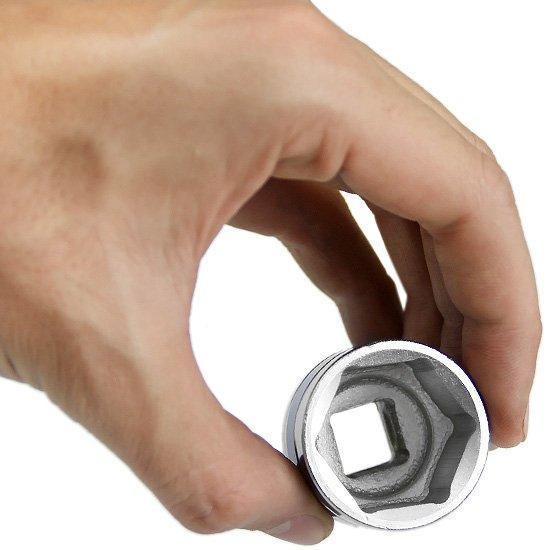 Soquete Sextavado Curto 27 mm com encaixe de 1/2 Pol. - Imagem zoom