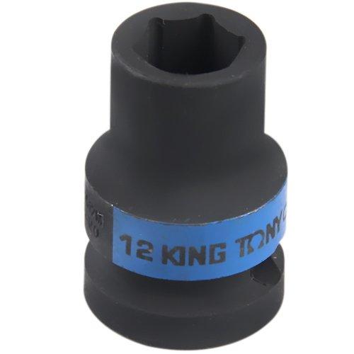 soquete de impacto sextavado curto 12 mm e encaixe de 1/2 pol.