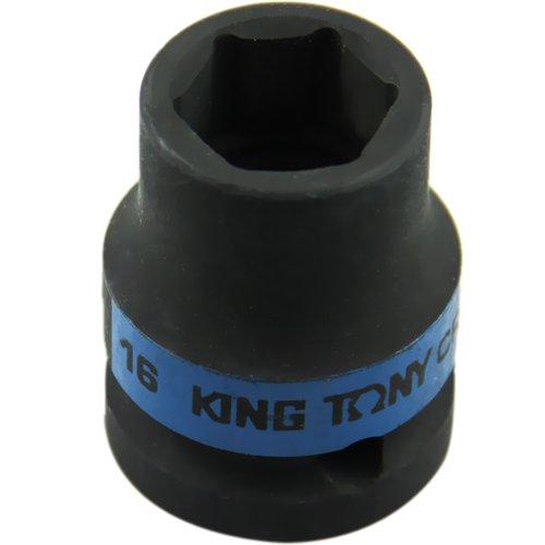 soquete de impacto sextavado curto com encaixe de 1/2 pol. de 16 mm