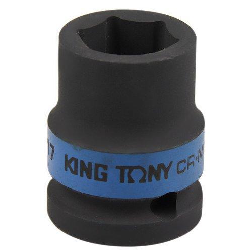 soquete de impacto sextavado curto 17 mm com encaixe de 1/2 pol. -