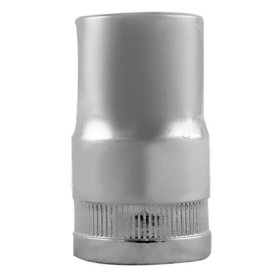 Soquete Estriado Cromado com Encaixe de 1/2 Pol. - 14mm - Imagem zoom