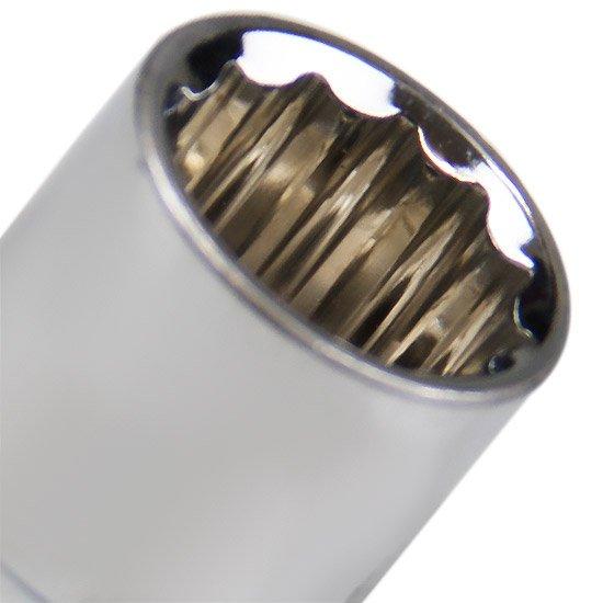 Soquete Estriado com Encaixe de 1/2 Pol. 18 mm - Imagem zoom