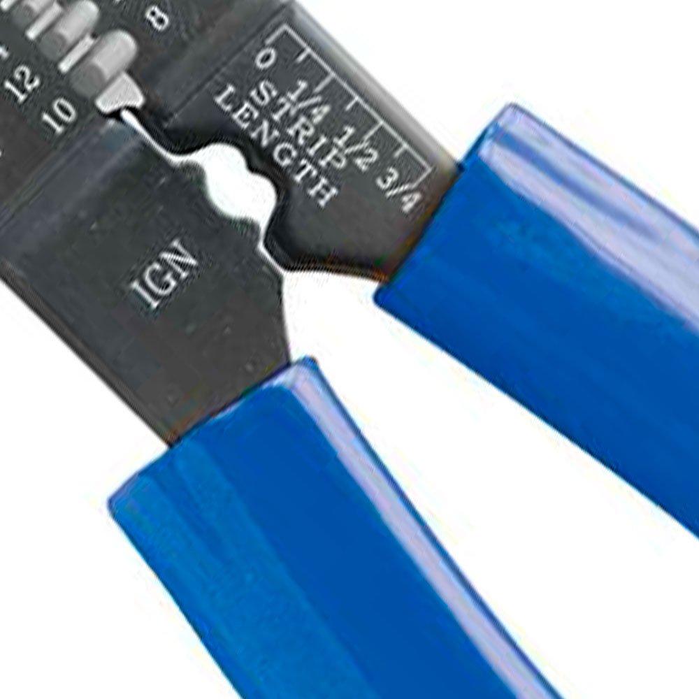 Alicate para Comprimir Terminais e Desencapador de Fios de 8.1/2 Pol. - Imagem zoom