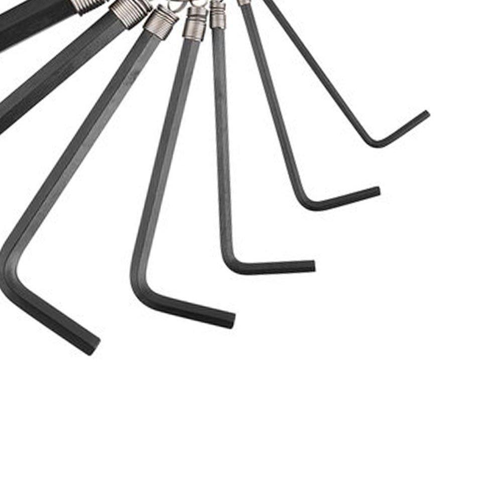 Jogo de Chave Allen do 2 ao 10 mm Curtas Tipo Chaveiro com 10 peças - Imagem zoom