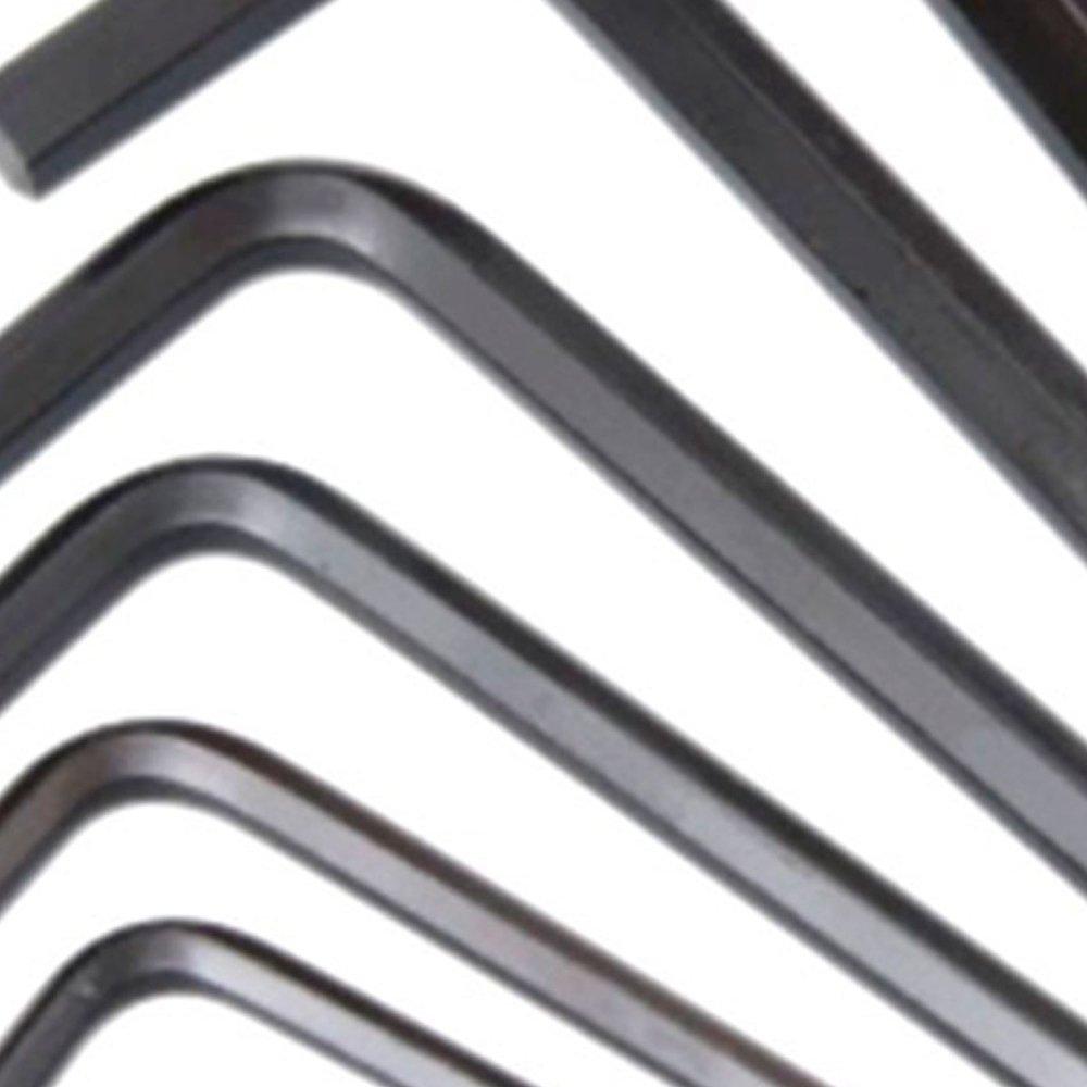 Jogo de Chaves Hexagonais Abauladas Longas de 1/16 a 9/16 Pol. com 14 Peças - Imagem zoom