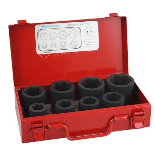 jogo de soquete de impacto com encaixe 3/4 pol. com 8 peças