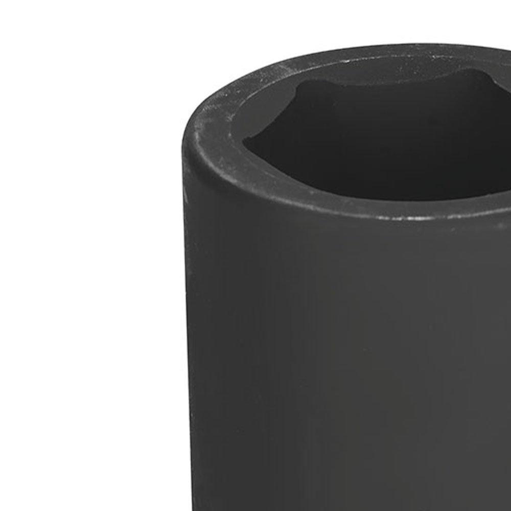 Soquete de Impacto Sextavado Longo Cr-Mo 34mm Encaixe 1 Pol. - Imagem zoom
