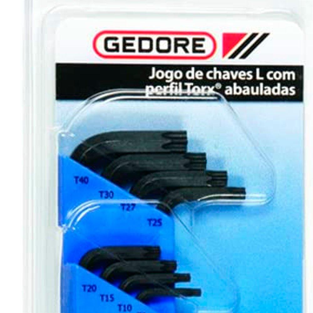 Jogo de Chaves L GTX Abaulada T9 à T40 com 8 Peças - Imagem zoom