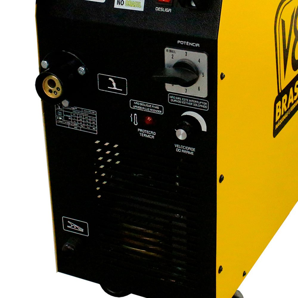 Maquina de Solda MIG 250 BR 250A  Monofásico com Tocha - Imagem zoom