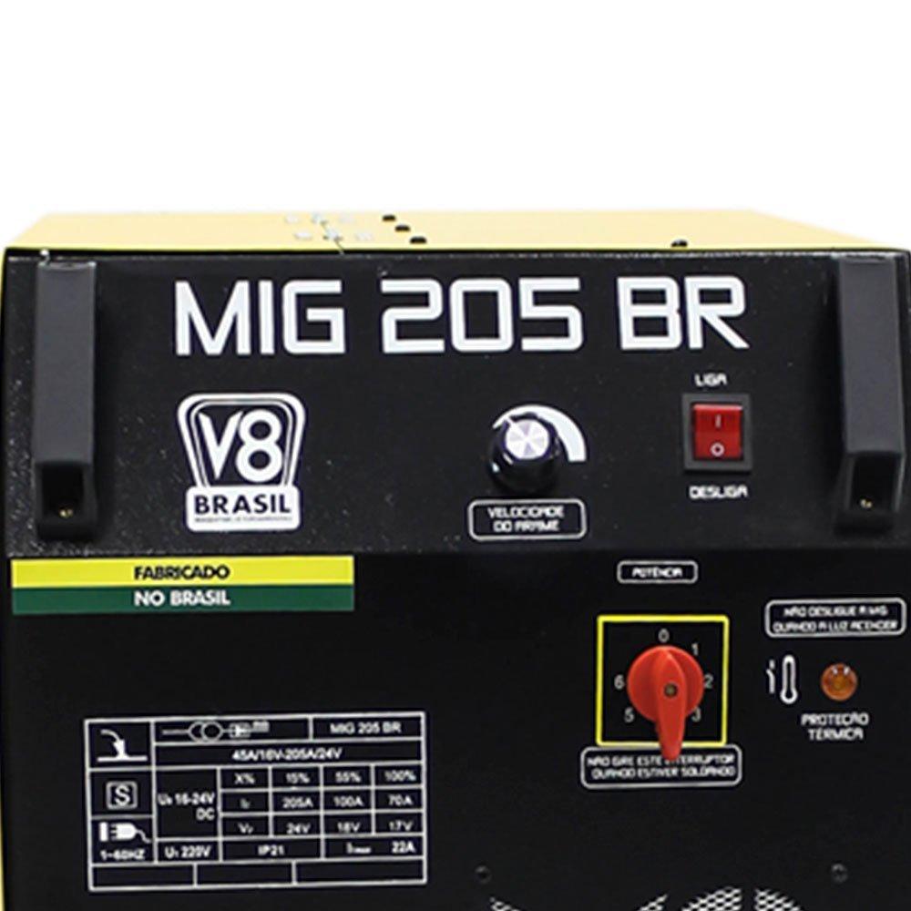 Máquina de Solda Mig 205A  Mono com Tocha - Imagem zoom