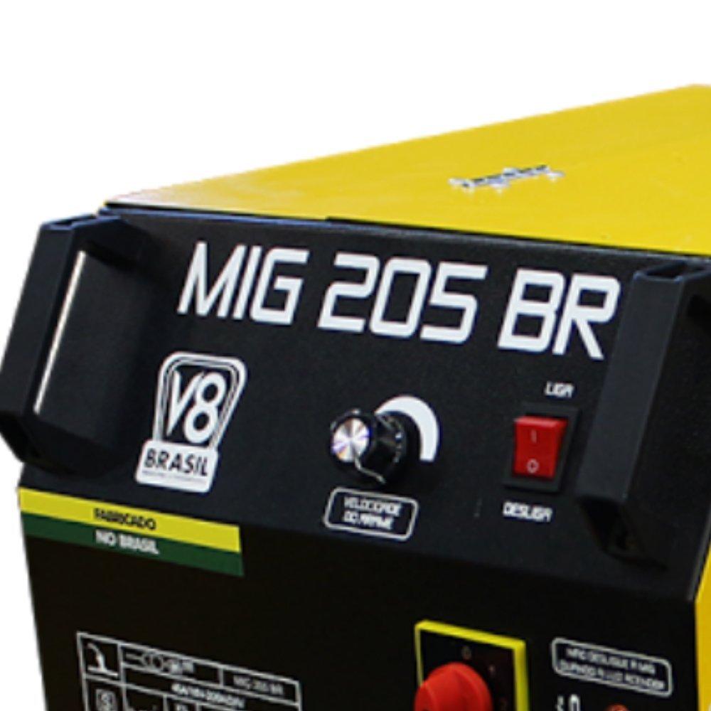 Máquina de Solda MIG 205A  Mono sem Tocha - Imagem zoom