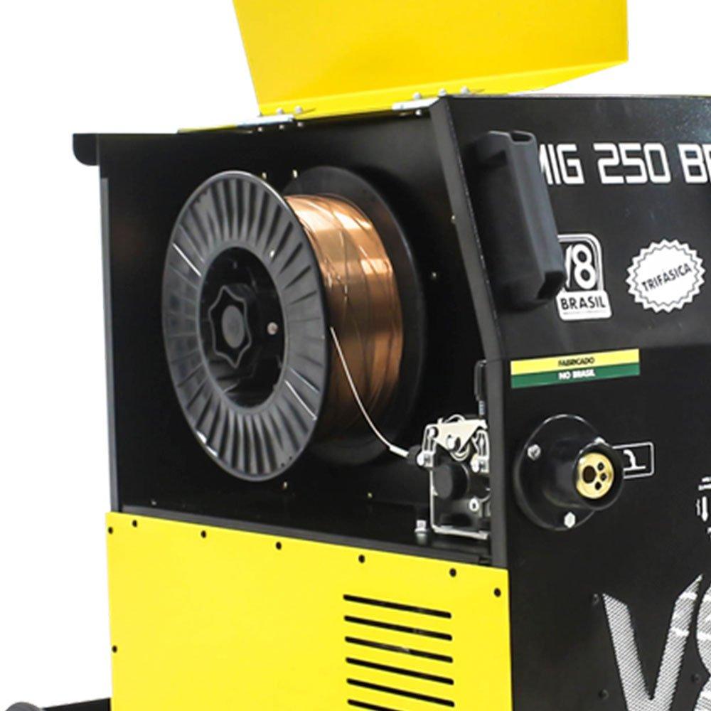 Máquina de Solda MIG 250BR Trifásica 220/380V sem Tocha - Imagem zoom
