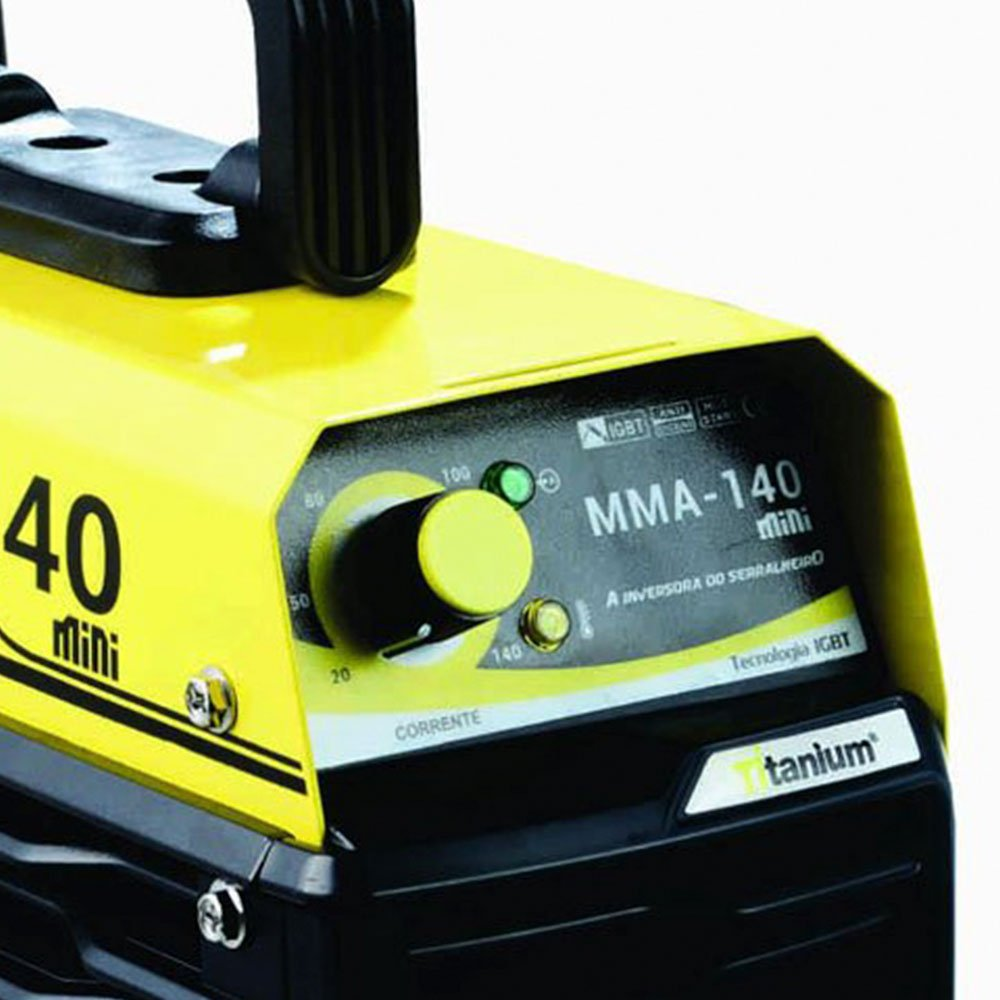 Kit Máquina de Solda Inversora  com Maleta Titanium 5224 + Máscara de Solda Tonalidade 11 - Imagem zoom