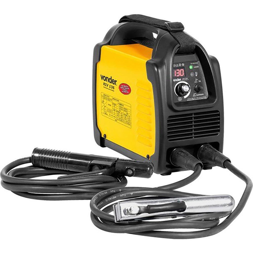 Kit Máquina Inversora de Solda 130A Display Digital Bivolt Vonder RIV136 + Esmerilhadeira Stanley STGS6115 4.1/2 Pol 600W  - Imagem zoom