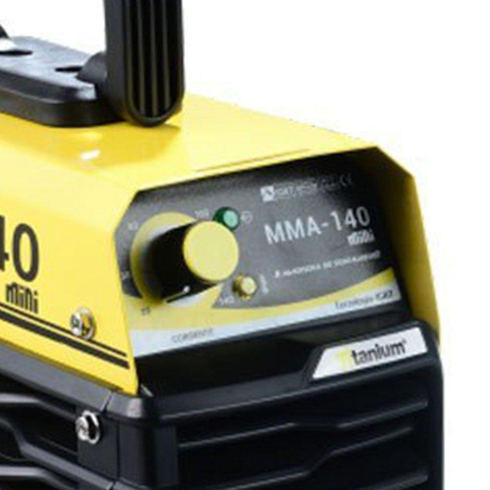 Kit Máquina de Solda Inversora Mini MMA 140A 220V Titanium 5224 + Eletrodo Ok Serralheiro E6013 2,5mm 1Kg - Imagem zoom