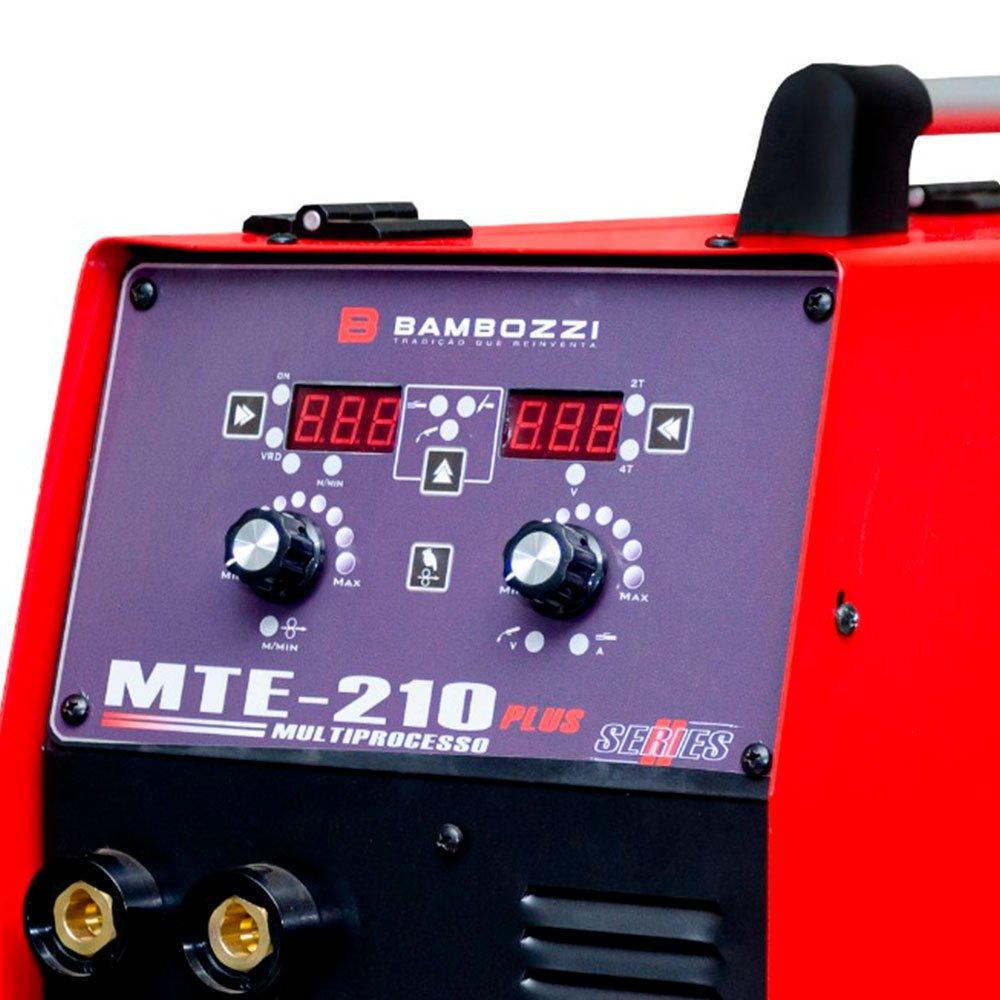 Máquina de Solda Inversora MTE-210 Plus Multiprocesso Tig, Mig e Eletrodo Bivolt - Imagem zoom
