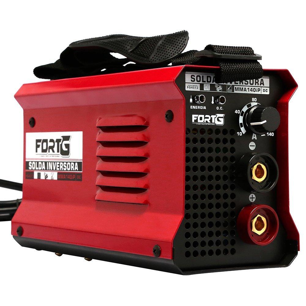 Kit Máquina de Solda Inversora MMA140iP 140A 220V Fortg Pro FG4513 + Esquadro Magnético 12Kg - Imagem zoom