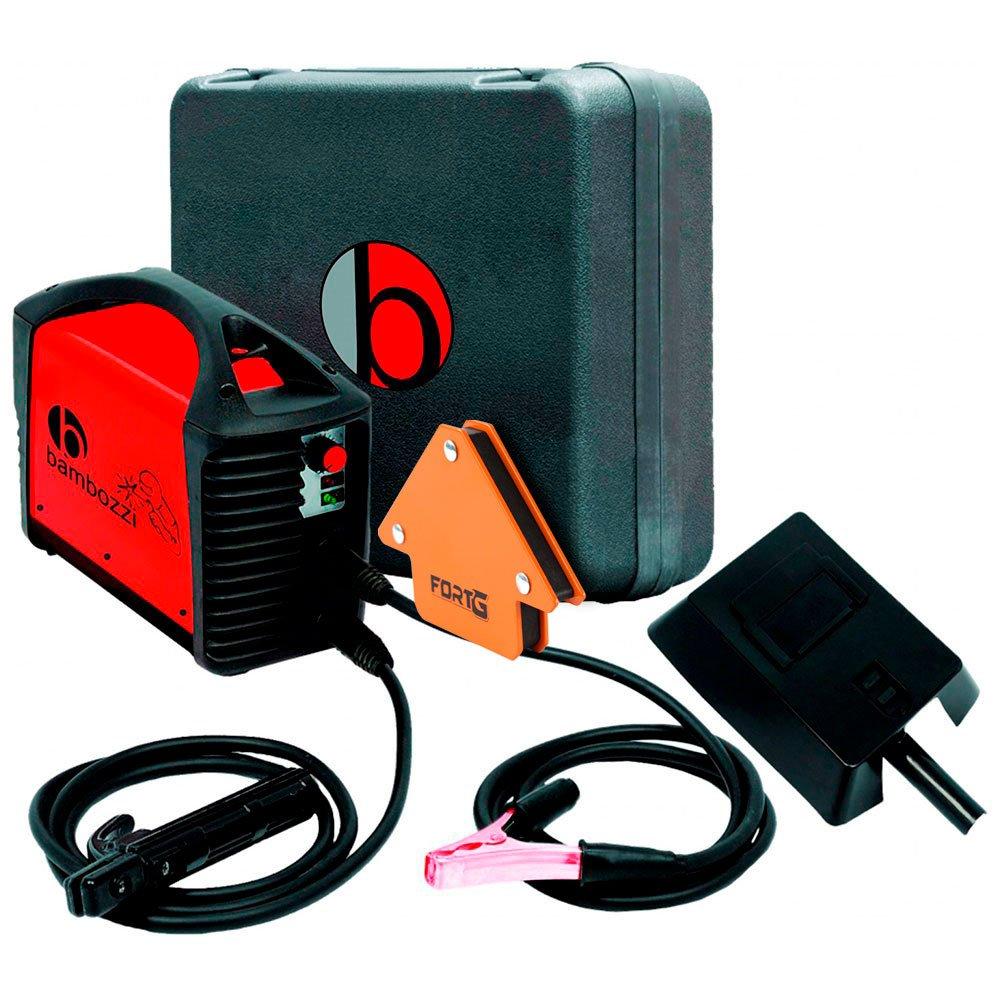 Kit Máquina de Solda Inversora MMA 140A com Maleta Bivolt Bambozzi WMI161ED + Esquadro Magnético 12Kg para Soldador FG4700 - Imagem zoom
