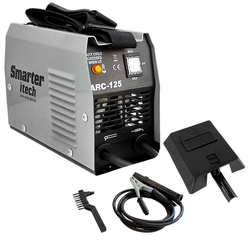 Kit Máquina Transformadora 80A de Solda Portátil  Smarter ARC-125 + Esquadro Magnético 12Kg para Soldador FG4700 - Imagem zoom