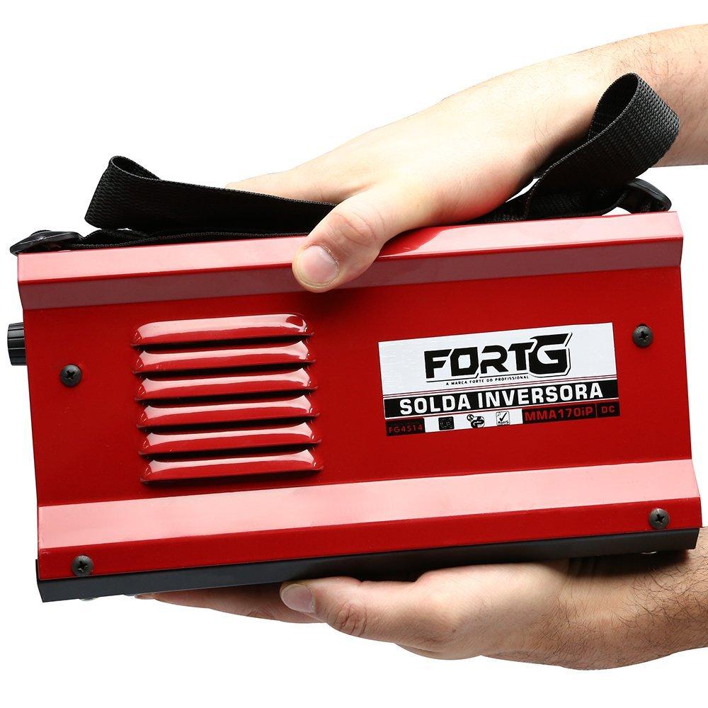 Kit Máquina de Solda Inversora MMA170iP FORTGPRO-FG4514 170A Bivolt + Máscara de Solda LYNUS-MSL-350F - Imagem zoom