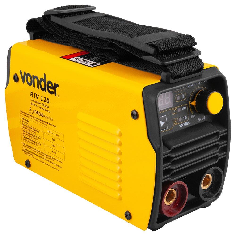 Máquina de Solda Inversora RIV 120 A 220V Monofásico com Display Digital e Maleta - Imagem zoom