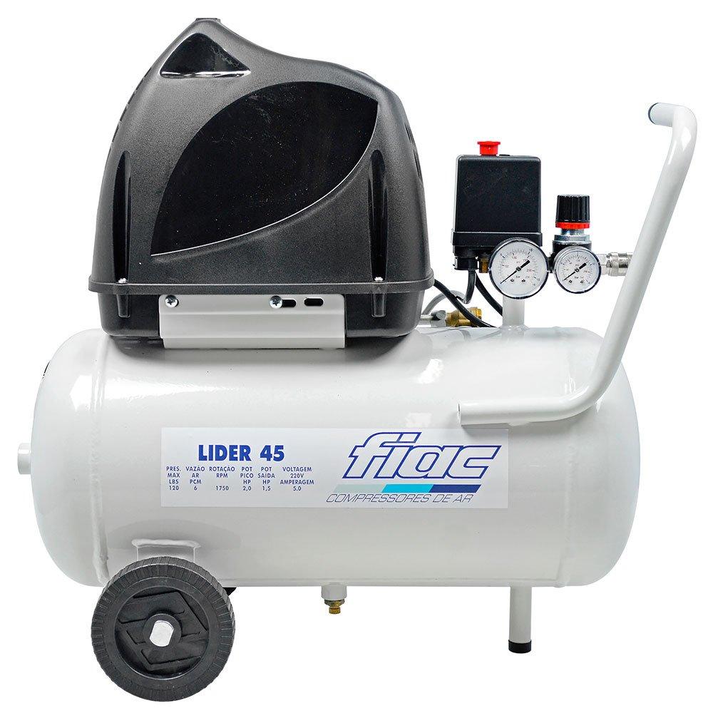 Compressor Odontológico Lider 1,5HP 6 Pés 24 Litros Isento de Óleo  - Imagem zoom